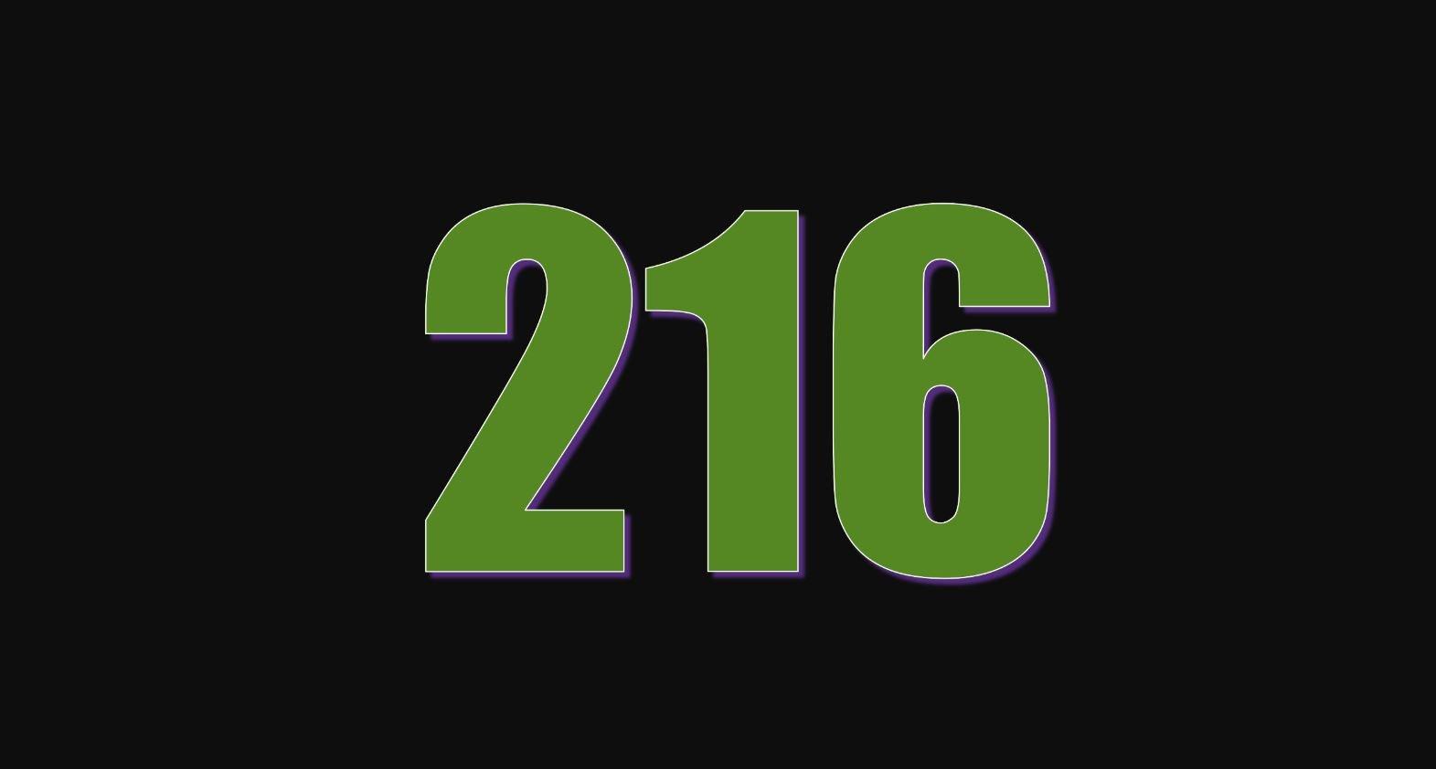 Il significato del numero 216