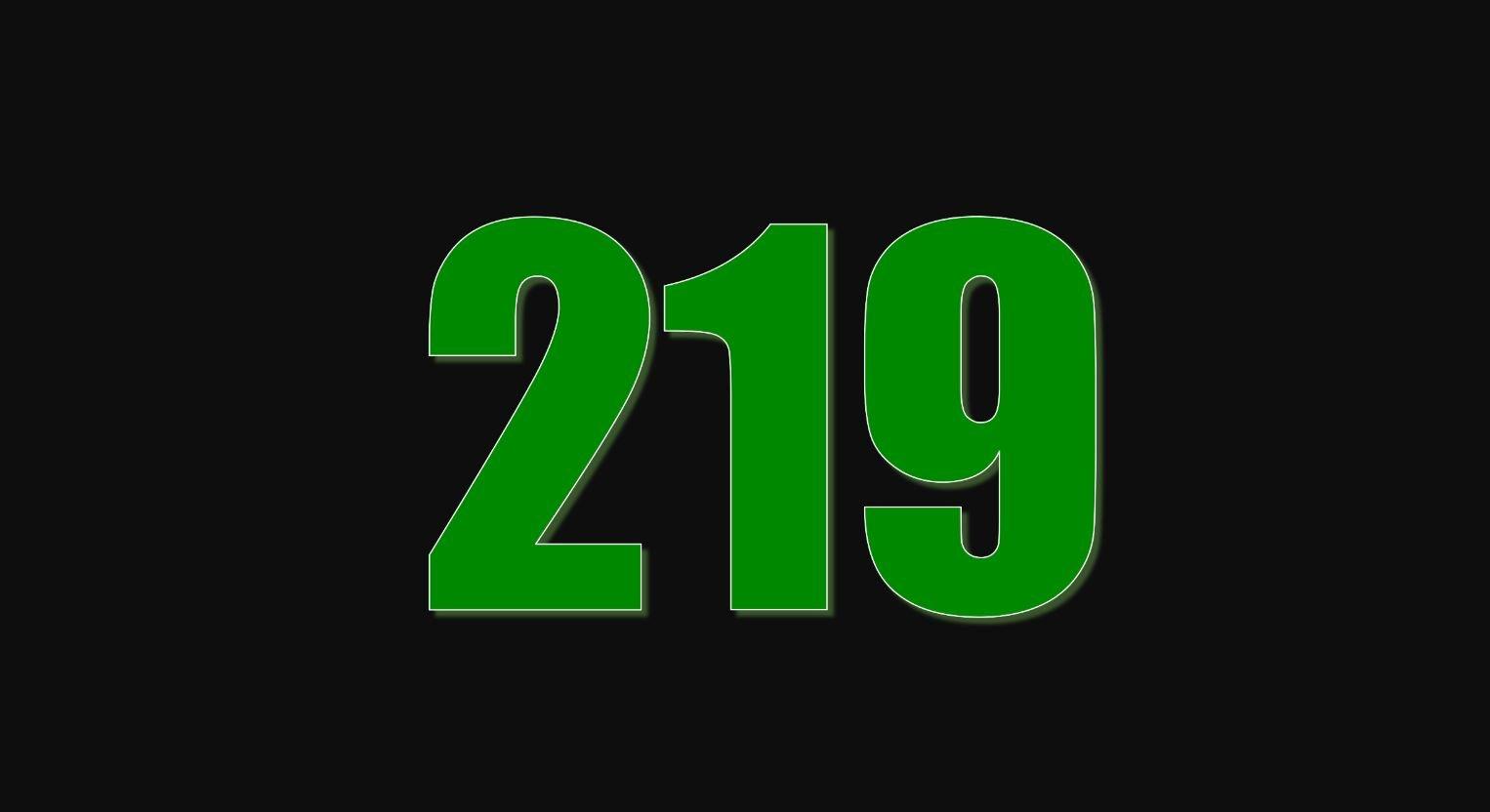 Il significato del numero 219