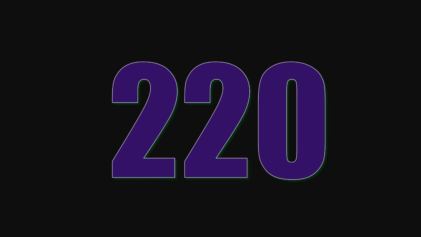 Il significato del numero 220