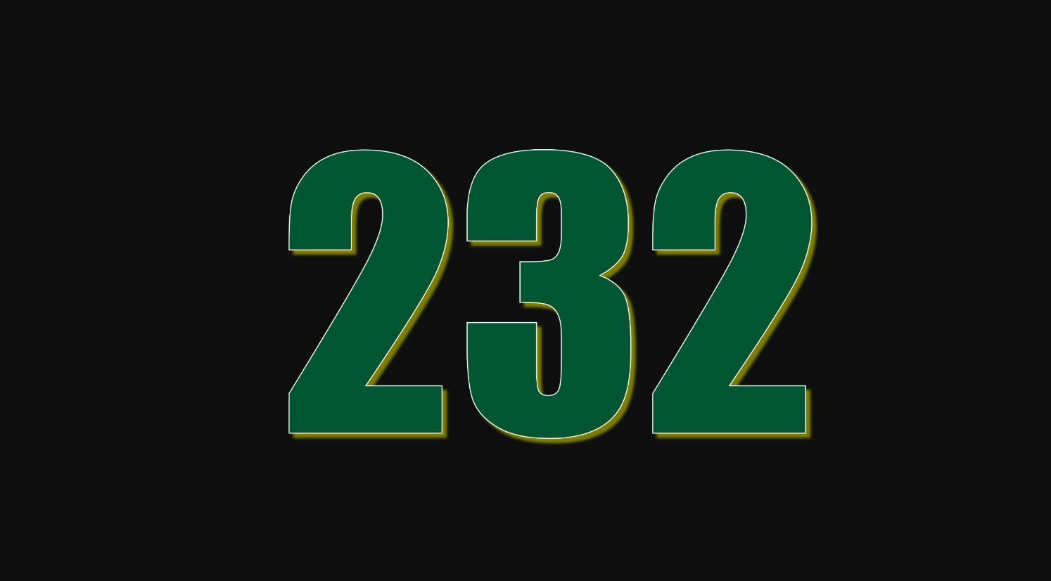 Il significato del numero 232