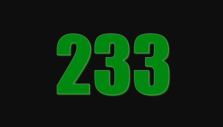 Il significato del numero 233