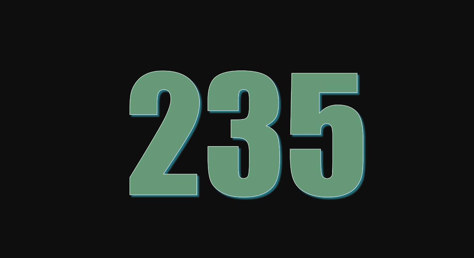 Il significato del numero 235