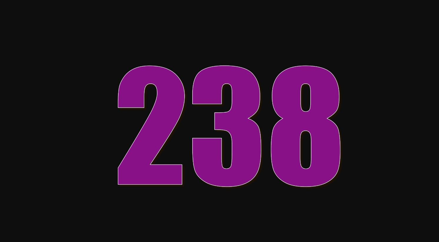 Il significato del numero 238