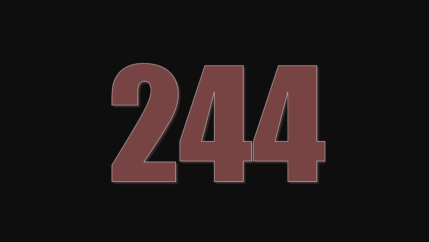 Il significato del numero 244