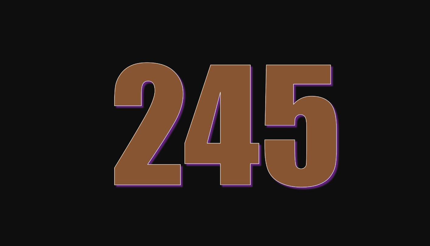 Il significato del numero 245