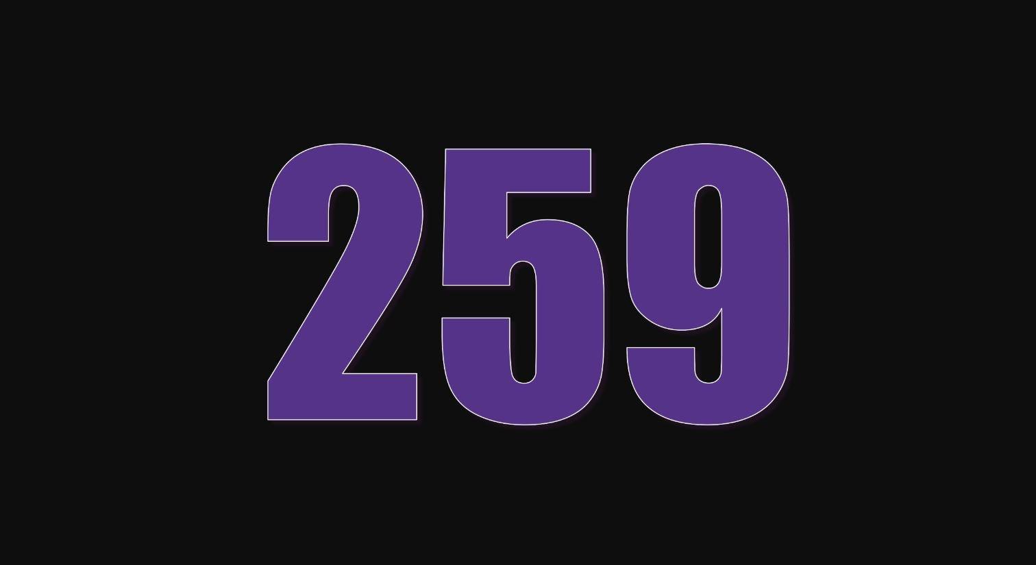 Il significato del numero 259