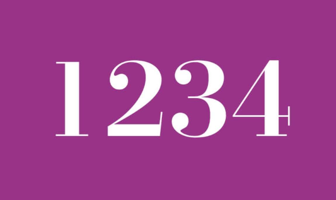 Il significato del numero 1234