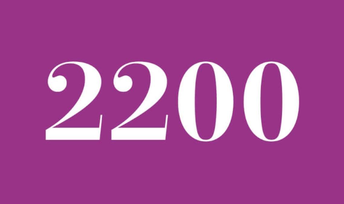 Il significato del numero 2200