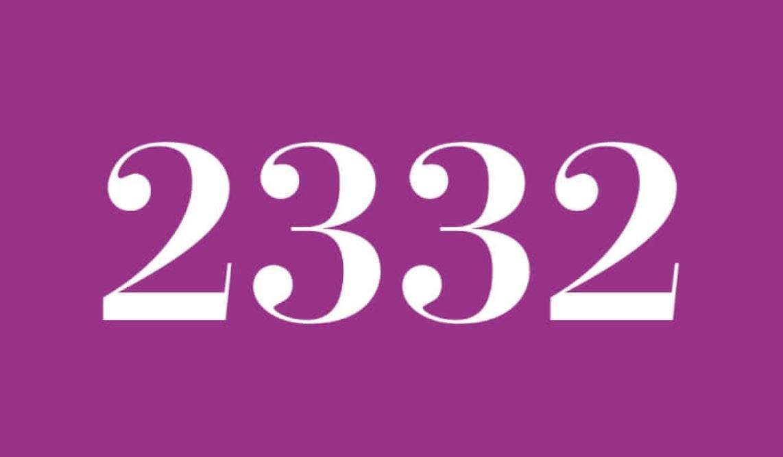 Il significato del numero 2332