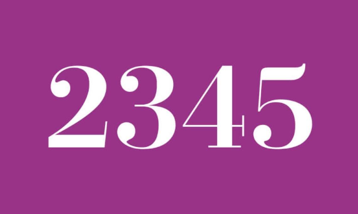 Il significato del numero 2345