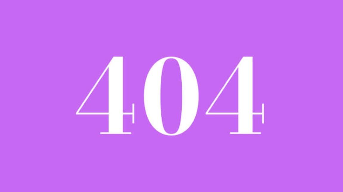 Il significato del numero 404