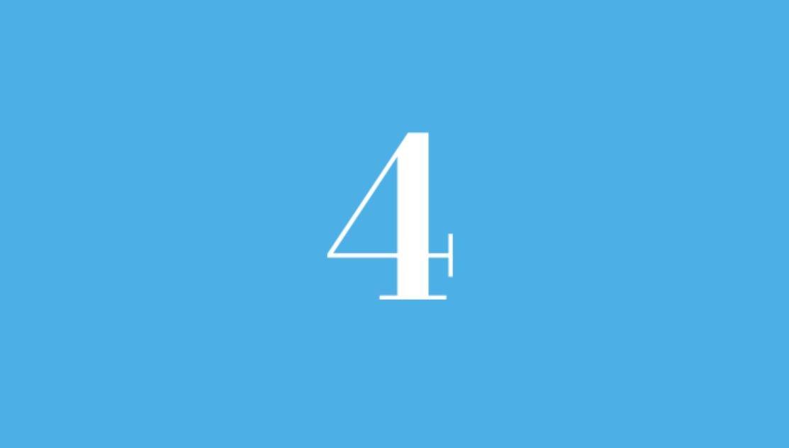 Significato del Numero Angelico 4