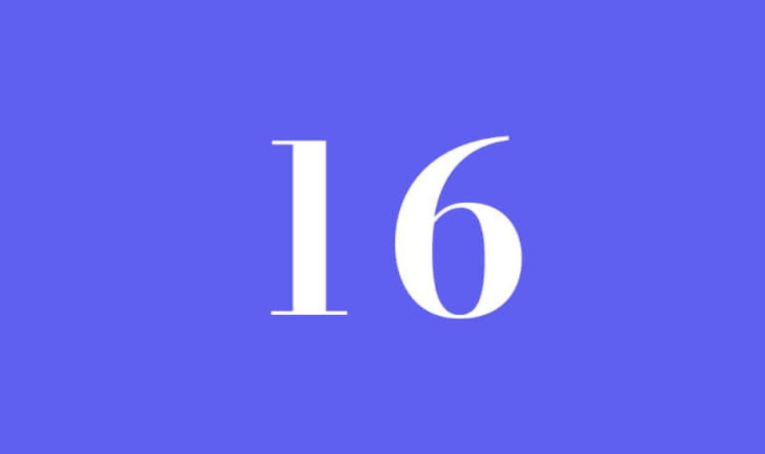 Significato del Numero Angelico 16