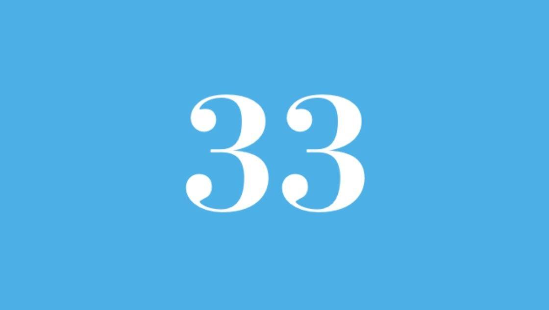 Significato del Numero Angelico 33