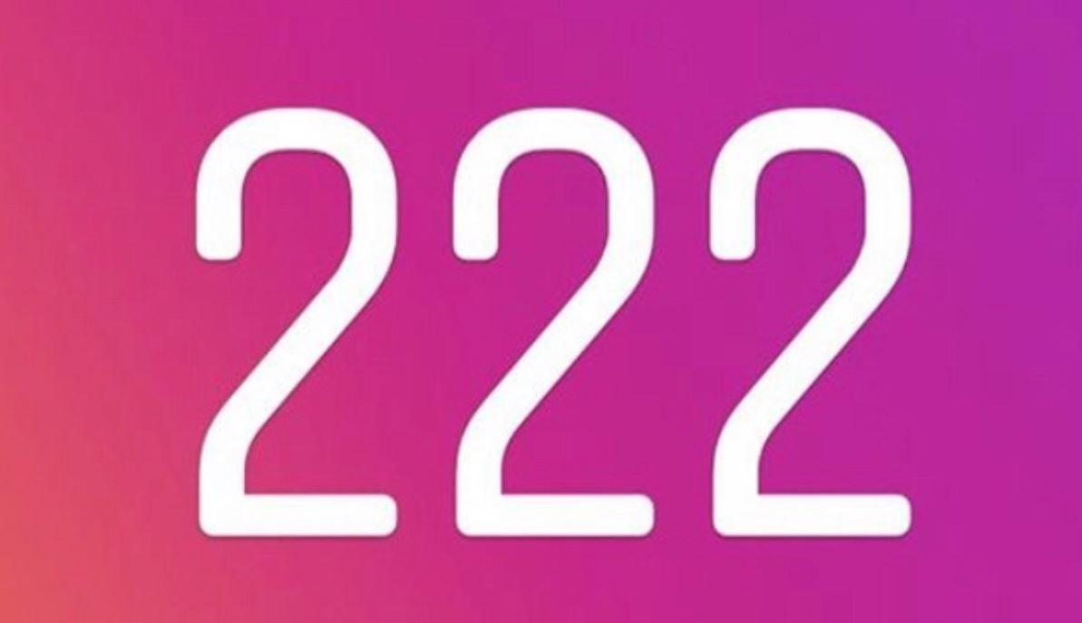 Significato del Numero Angelico 222