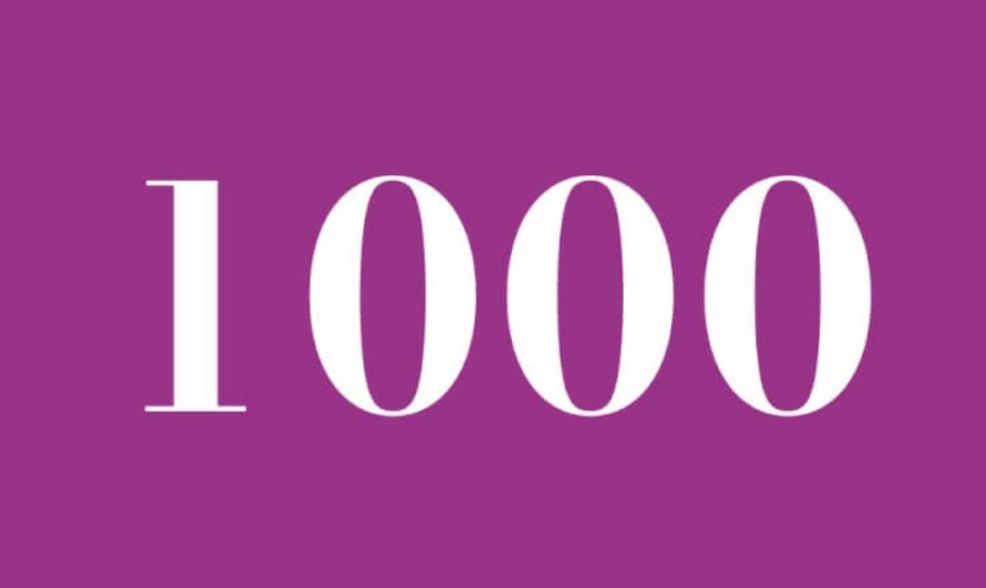 Significato del Numero Angelico 1000
