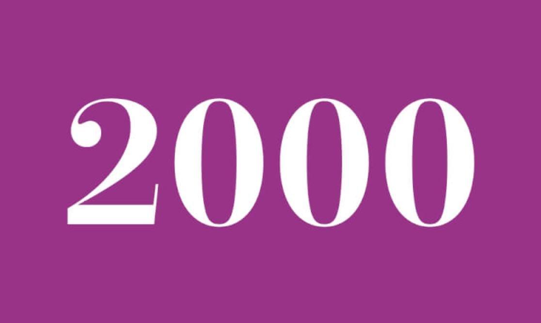 Significato del Numero Angelico 2000