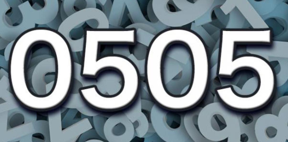 Il significato del numero 0505