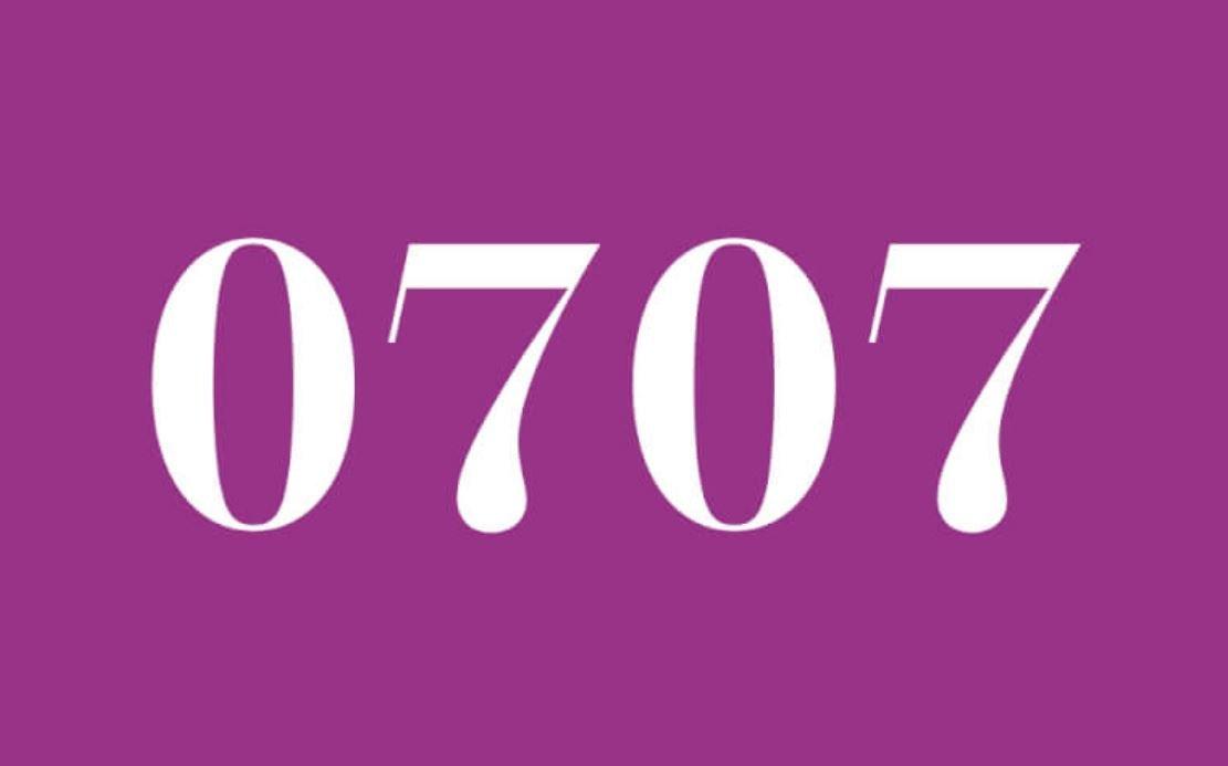 Il significato del numero 0707