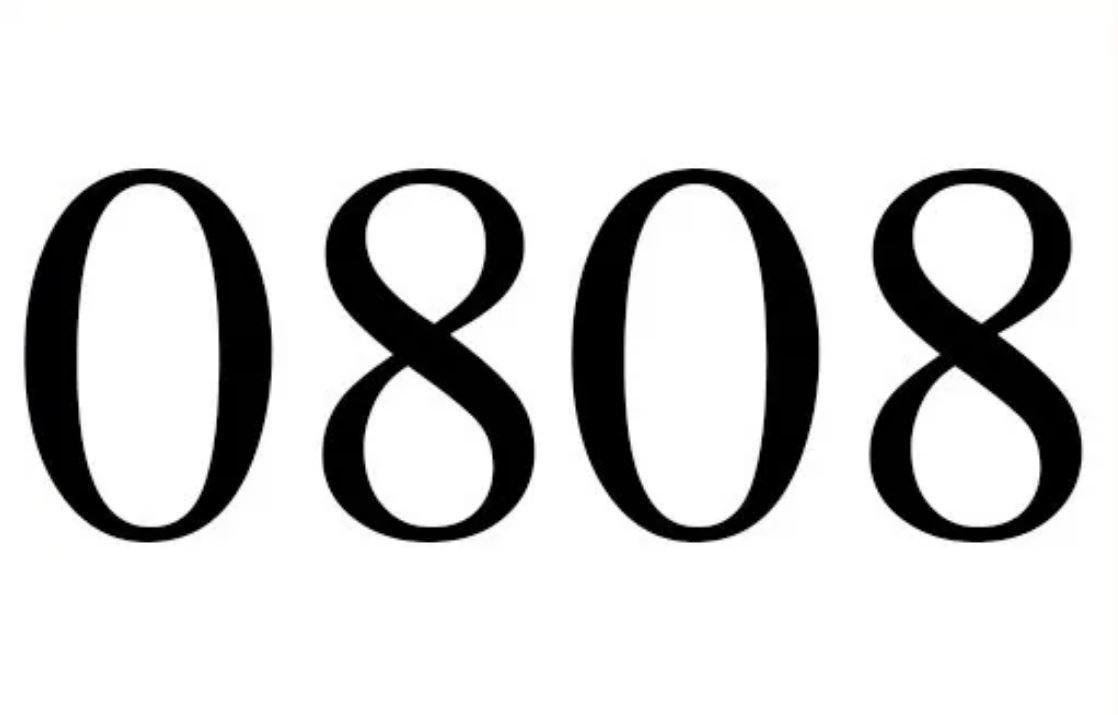 Il significato del numero 0808