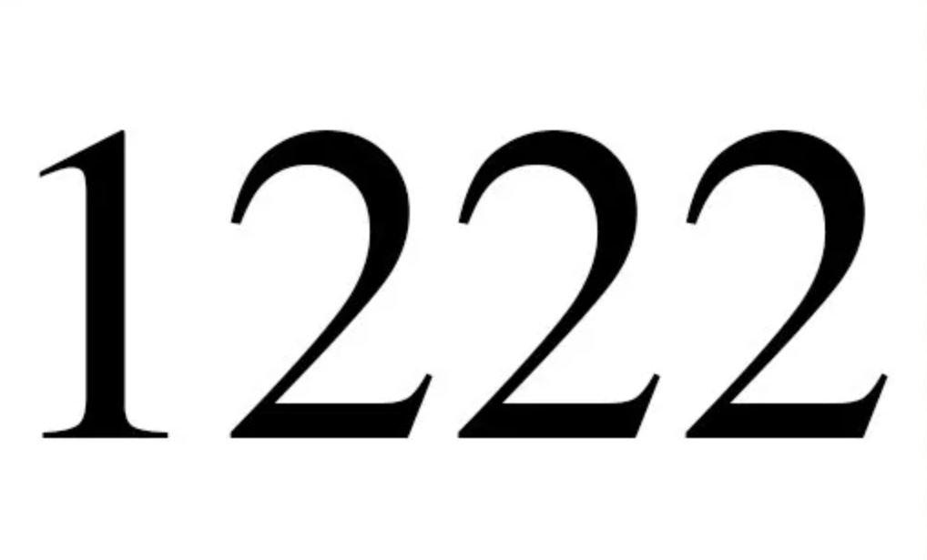 Significato del Numero Angelico 1222