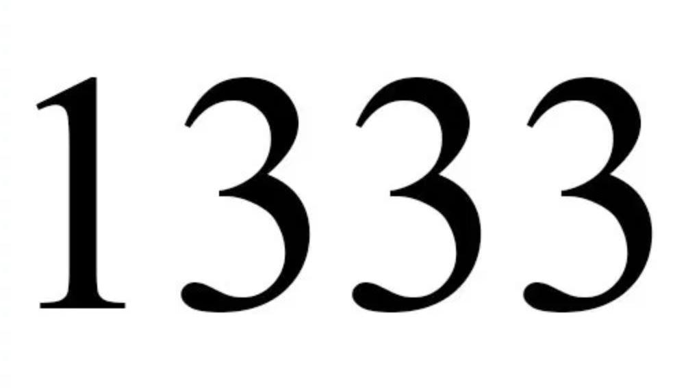 Significato del Numero Angelico 1333