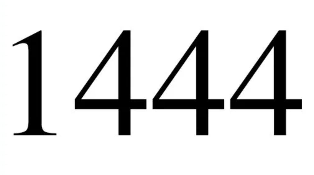 Significato del Numero Angelico 1444